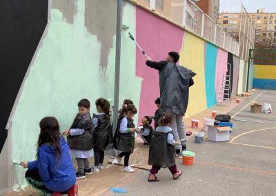 Mural Solidario Colegio La Salle Montemolín